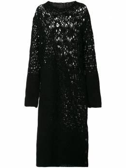 Yohji Yamamoto платье миди рыхлой вязки FRK20195