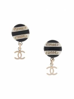 Chanel Pre-Owned серьги с логотипом CC 26302