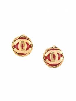 Chanel Pre-Owned серьги-клипсы с логотипом CC 26300