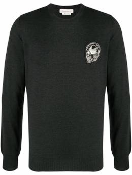 Alexander McQueen patch-detail jumper 632872Q1XAO