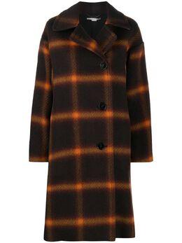 Stella McCartney однобортное пальто в клетку 602207SPB20