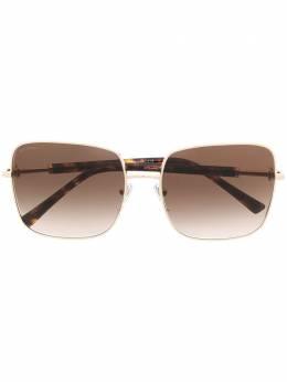 Bvlgari солнцезащитные очки в квадратной оправе 0BV613427813