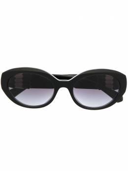 Bvlgari солнцезащитные очки в круглой оправе 0BV8227B53818G