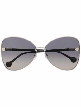 Salvatore Ferragamo массивные солнцезащитные очки с градиентными линзами SF184S738