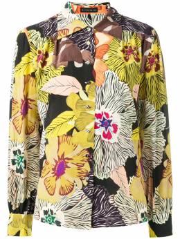 Etro рубашка с цветочным принтом 149574367