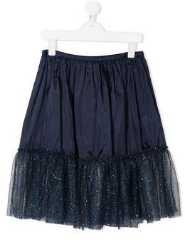 Il Gufo юбка с оборками и блестками A20SG002H4001