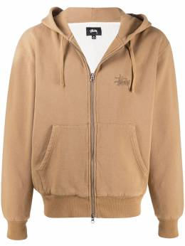 Stussy logo-embroidered zip-front hoodie 118385