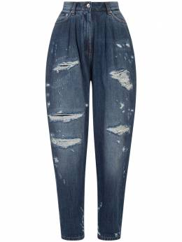 Dolce&Gabbana Balloon jeans in deep blue denim with rips FTBXUDG8CT6