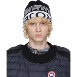 Y / Project Reversible Black and White Canada Goose Edition Wool Beanie YPCGHAT1