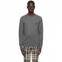 Burberry Grey Cashmere Monogram Motif Sweater 8033176