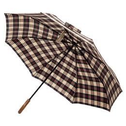 Burberry Black/Brown Nylon Mini Check Trafalgar Umbrella 350446