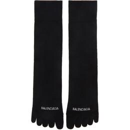 Balenciaga Black Logo Toe Socks 640607-4A4B6