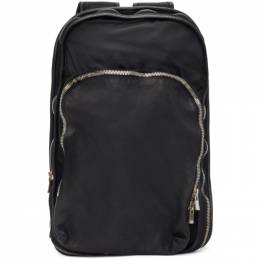 Guidi Black Leather Expandable Backpack SP05