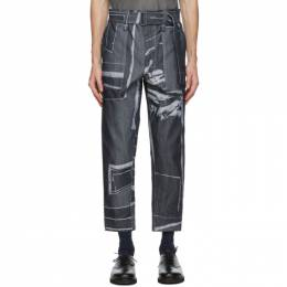 Issey Miyake Men Navy Triangle Jeans ME08FF009