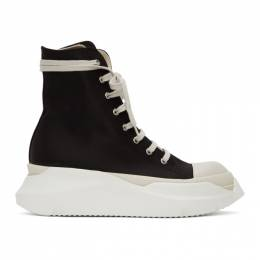 Rick Owens DRKSHDW Black and White Abstract High-Top Sneakers DU20F1840 CNP