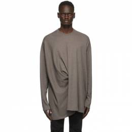 Julius Taupe Twisted Long Sleeve T-Shirt 717CUM6