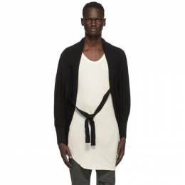 Julius Black Linen and Silk Cropped Cardigan 717KNM6