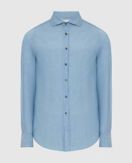 Голубая рубашка Brunello Cucinelli 2300006387814