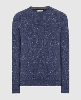 Темно-синий свитер Brunello Cucinelli 2300006387319