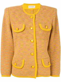 Yves Saint Laurent Pre-Owned пиджак без воротника 2403000615966
