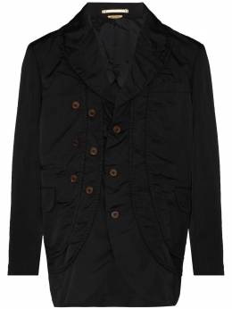 Comme Des Garcons Homme Plus ruched-detail single-breasted blazer PFJ061051