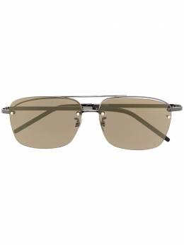 Saint Laurent Eyewear солнцезащитные очки в квадратной оправе с логотипом 642465Y9902