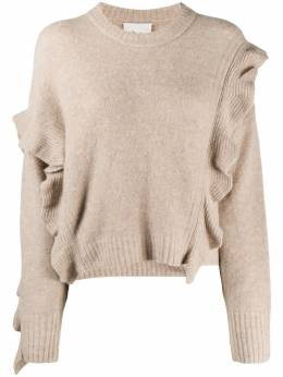 3.1 Phillip Lim LS LOFTY CROPPED RUFFLE PULLOVER F2017278LAL