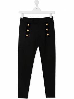 Alberta Ferretti Kids спортивные брюки с пуговицами 025335