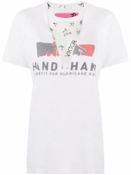 Viktor & Rolf сетчатая футболка с принтом T104A10201420A