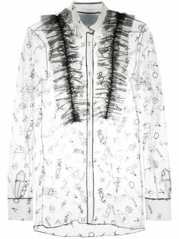 Viktor & Rolf прозрачная рубашка с оборками T005U10322420