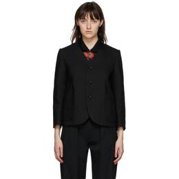 Tricot Comme Des Garcons Black Wool and Linen Serge Blazer TF-J010-051