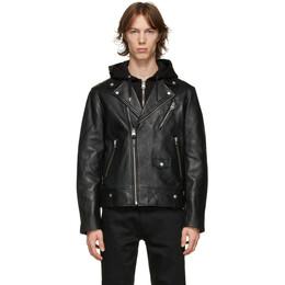Mackage Black Leather Mangus Jacket MAGNUS-R