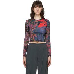 MCQ by Alexander McQueen Multicolor Arcade Second Skin Long Sleeve T-Shirt 624607RPJ56