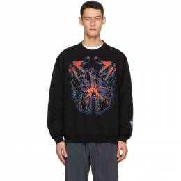MCQ by Alexander McQueen Black and Multicolor Relaxed Sweatshirt 624832RPT98
