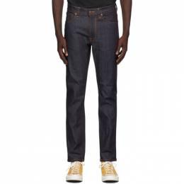 Nudie Jeans Indigo Dry Lean Dean Jeans 111946