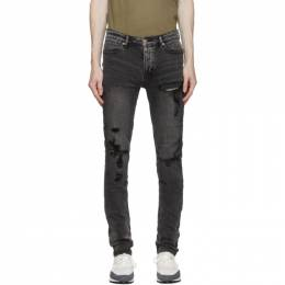 Ksubi SSENSE Exclusive Black Trashed Van Winkle Angst Jeans 5000005464