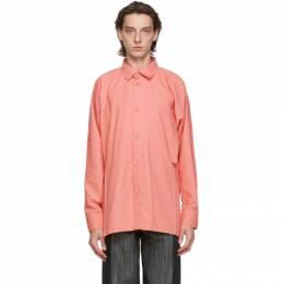 Issey Miyake Men Pink Flat Shirt ME08FJ062