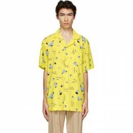 Issey Miyake Men Yellow Geometric Short Sleeve Shirt ME08FJ047