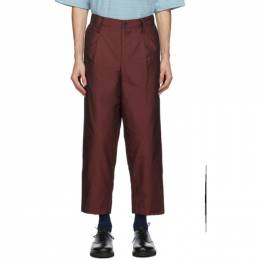 Issey Miyake Men Red Insulated Memory Trousers ME08FF099