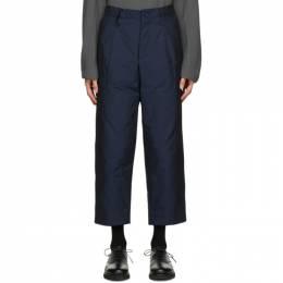 Issey Miyake Men Navy Padded Memory Trousers ME08FF099