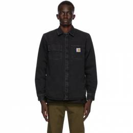 Carhartt Work In Progress Black Denim Salinac Shirt I027545