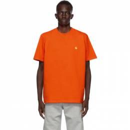 Carhartt Work In Progress Orange Chase T-Shirt I026391