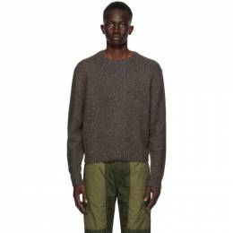 John Elliott Grey Wool Foggy Sweater D054P5320A