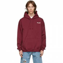 Vetements Burgundy Definition Hoodie UE51TR310R