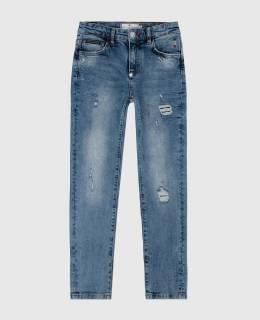 Детские голубые джинсы Philipp Plein 2300006403828