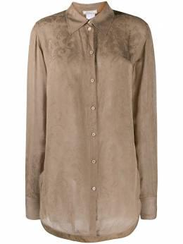 Nina Ricci удлиненная жаккардовая рубашка с цветочным узором 20HCTO020SE1351U7034
