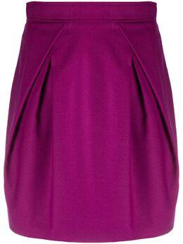 Alberta Ferretti юбка с завышенной талией и складками спереди A01095123