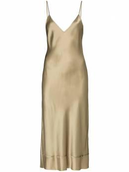 Lee Mathews платье-комбинация с V-образным вырезом M2004DR403