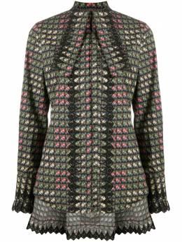 Paco Rabanne блузка с завязками и цветочным принтом 20HCCE046C00371
