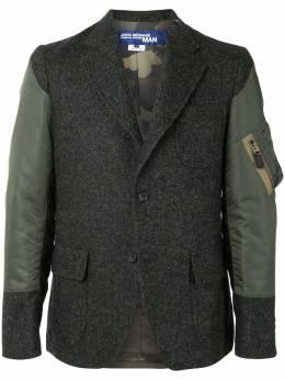 Junya Watanabe Man однобортный пиджак со вставками J019